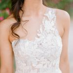 One shoulder wedding dress Mira Zwillinger gown from Elegant Fusion Wedding
