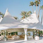 Wedding reception tent Empire Polo Club elegant fusion wedding