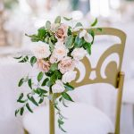 chameleon chair Wedding floral detail elegant fusion wedding
