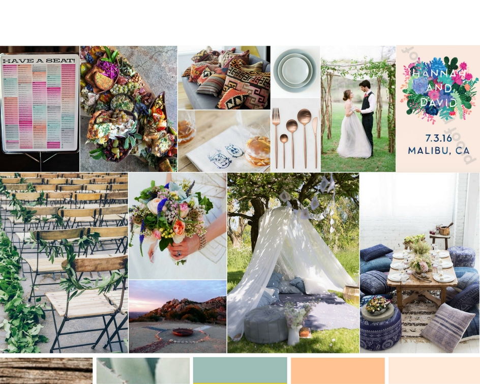 Organic Malibu Wedding inspiration for RO & Co. Events.