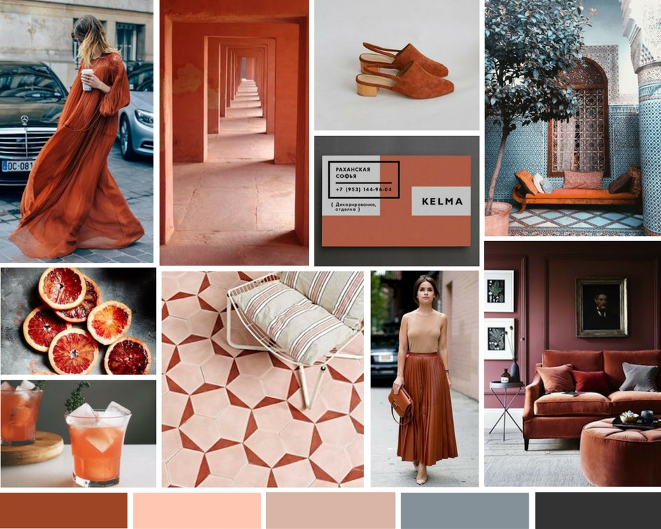Pantone's Potter's Clay inspired board from RO & Co. Events.