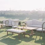Comfortable seating like this lounge furniture is perfect for an outdoor wedding