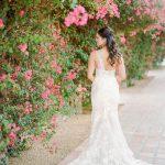 One shoulder wedding dress Mira Zwillinger gown from Elegant Fusion Wedding