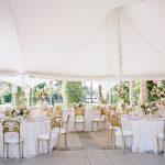 Wedding reception tablescape design tent Empire Polo Club Elegant fusion wedding