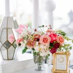 Wedding details floral bar menu elegant fusion wedding