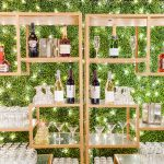 Wedding reception bar twinkle lighting elegant fusion wedding