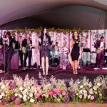 Wedding band stage decor floral RMBO Collective Destination Wedding Planner