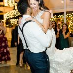 Bride and Groom dance floor twinkle lighting Empire Polo Club RMBO Collective Destination Wedding Planner