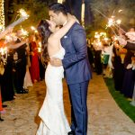 bride and groom wedding sparkler sendoff RMBO Collective Destination Wedding Planner