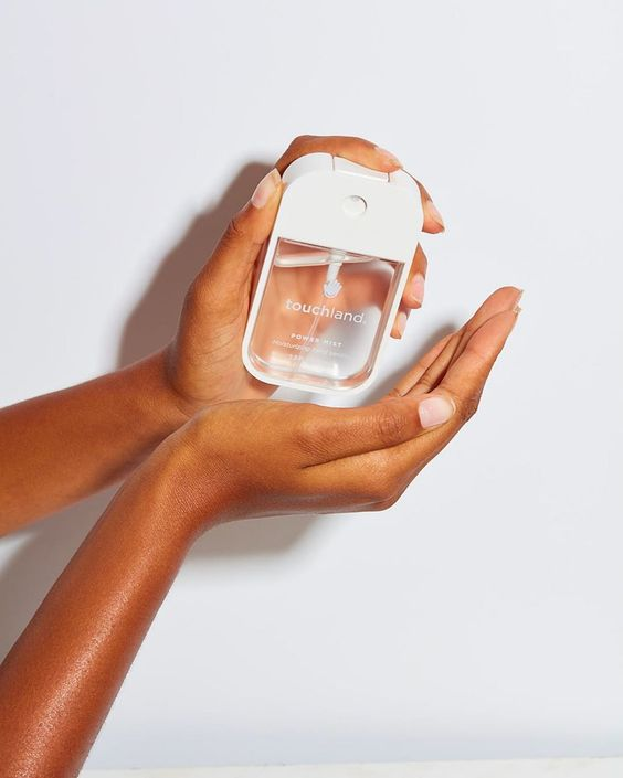 Stylish hand sanitizer packaging from Touchland.