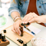 An essential oil blending demonstration allows for creativity and fun.