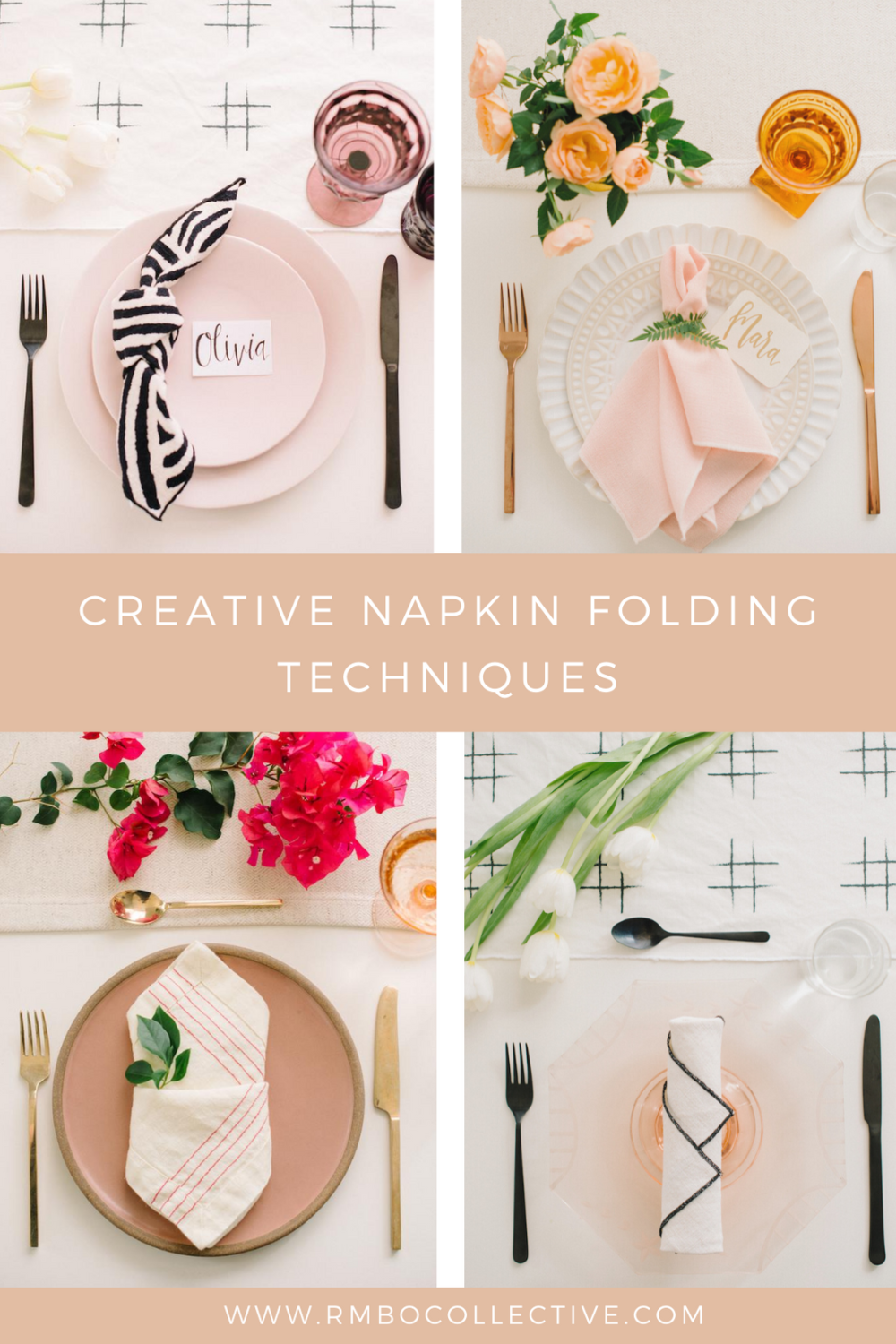 9 creative napkin folding techniques to try on your tablescape.
