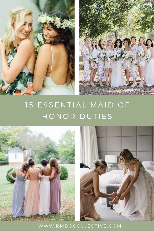 15 Essential Maid of Honor Duties blog post