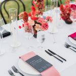 These menus at this destination wedding have personalized messages to each guest.